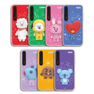 bt21,light up silicone case iphonex