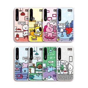bt21,roomies graphic light up phone case