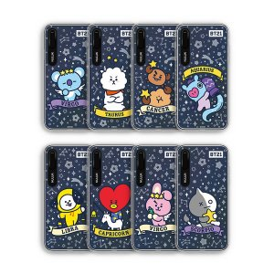 bt21,universtar stella graphic light up case