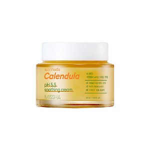 missha,sunhada calendula ph 5.5 soothing cream